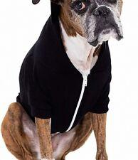 American Apparel Dog Sweater Black Size Large L Solid Fleece Full-Zip $22- 578
