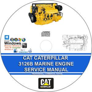 Cat Caterpillar 3126B Marine Engine Workshop Service Repair Manual + Parts on CD