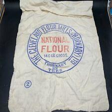 More details for vintage / antique national flour cleveland flour mills thornaby sack bag