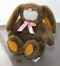 "Plush 7.5"" Blue Eyed Brown BUNNY RABBIT Sugar Loaf  EUC Boys Girls 3+ CLEAN Soft"
