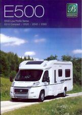 Bessacarr E500 E510 motor home caravan brochure 2009 Fiat 8 page Cottingham
