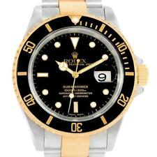 Rolex Submariner 40 Steel 18K Yellow Gold Black Dial Watch 16613