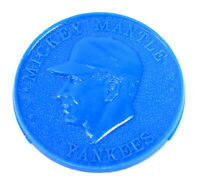 Vintage 1959 ARMOUR HOT DOG Advertising MICKEY MANTLE Blue Chip Plastic TOKEN