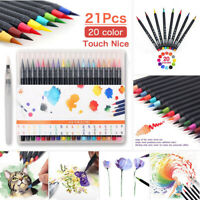 20 Colors Artist Watercolor Drawing Painting Brush Sketch Manga Marker Pen Set