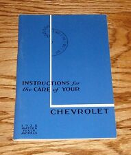 1935 Chevrolet Master Truck Models Owners Operators Manual 35 Chevy