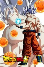 Dragon Ball Super Poster Goku Ultra w/Dragon Balls Logo 12inx18in Free Shipping