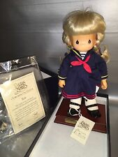 Precious Moments Carved face sailor navy limited edition 505/1000 Rene new