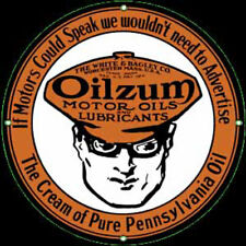Oilzum Oil Porcelain Advertising Sign