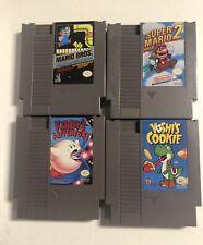 Nintendo NES GAMES LOT X4 Mario Bros Super Mario 2 Yoshis Cookie Kirby Adve