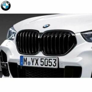 Original BMW X1 Grille Décorative Avant Shadowline F48 LCI Rein Noir 51138080619