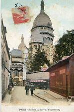 Carte PARIS XVIII 18 Rue de la Barre à Montmartre Paillettes brillantes