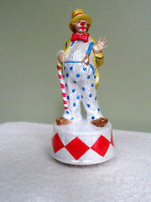 Vintage Revolving Clown Music Box Luster Finish Plays Joy to the World