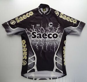 Cannondale L 30th Anniversary Saeco Black Lightning Cycling Jersey 1/2 Zip SI