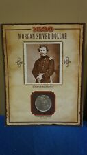 PCS LEGENDS OF WEST 1890 MORGAN SILVER DOLLAR JOHN FREMONT W STAMP HISTORY CARD