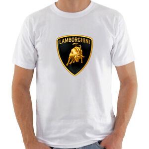 LAMBORGHINI FAST CAR TECHNOLOGY Men white t-shirt 100% cotton