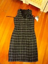 jump black white woven sheath dress NWT  $89.99  tweed 8 with corsage