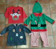 Baby Boy girl Next Mothercare Christmas Outfit Elf Santa Father age 6 - 9 months