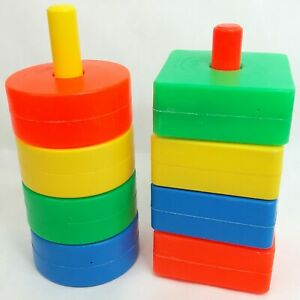 Fisher Price Baby shapes toy Stacking Plastic Vintage 1970s