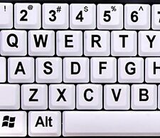 Nuklz Large Print Computer Keyboard Wired USB White Keys - White keys with