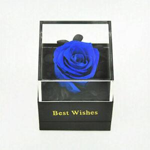 Best Wish Eternal Rose Preserved Flower with Jewelry Box Wish