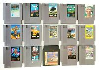 NES Nintendo Lot of 15 Games - Cleaned & Tested Dragon Power Mario Bros WWF NBA