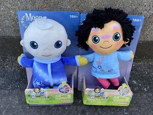 Playskool Moon and Me Toy Plush Talking 12 Inch Pepi Nana And Taking Moon Baby