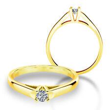 585 Gold Verlobungsring Antragsring Solitär Frauen Ring Zirkonia Brillant VJC19