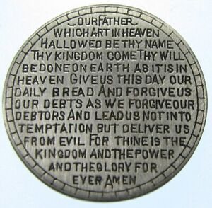 """Love Token Silver Dime """"The Lord's Prayer"""" Amazing detail - Must See"""
