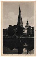 Ansichtskarte Schwerin - Dom mit Pfaffenheim - Kunstverlag Simonsen - s/w