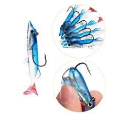 Minnow Night Plastic Fishing Lure Crank Bait Hook Bass Fish Crankbait Tackle