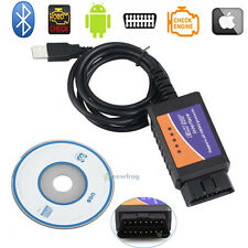 USB Code Reader ELM327 OBDII OBD2 Diagnostic Scanner CD For PC Engine Scan Tool