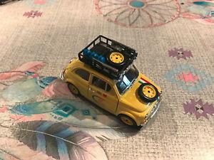 Rare Voiture Miniature Fiat 500 From Bari To Pechino Burago 1/21 no 1/24