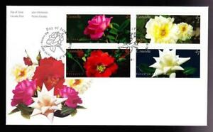 Canada FDC 2001 Roses booklet combo sc#1911-1914