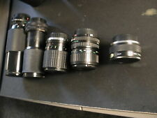 SLR Lens lot of 5 Zoom Canon FD Sakar Vivitar Quantaray