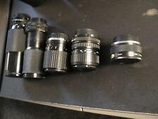 SLR Lens lot of 5 Zoom Canon FD Sakar Vivitar Quantaray