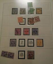 000 Vintage Lot Germany 1945 am post fine lot 15 Stamps Used & Unused Nice