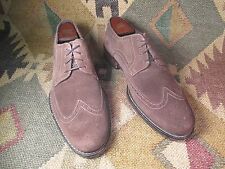 Cole Haan Brown Suede Leather Wingtip Oxfords  Shoes Size z 9.5 M