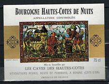 Etiquette de Vin- Bourgogne -Hautes Cotes de Nuits -New -Never Stuck - Réf.n°136