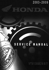 Honda VTX 1300 VTX1300 2003 2004 2005 2006 2007 2008 2009 service manual on CD