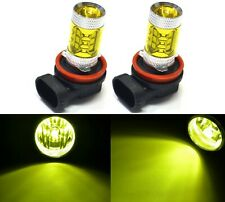 LED 80W H11 Yellow 3000K Two Bulbs Fog Light Replacement Show Use Lamp Off Road