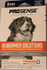 Pro-Sense DEWORMER SOLUTIONS 3 Day Treatment 40 lbs FOR DOGS Four Major Worms