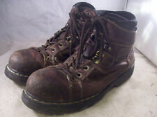 DR. MARTENS MEN'S IRONBRIDGE STEEL TOE BOOTS BROWN LEATHER 13 MEDIUM $135