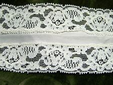 """Vintage Blended Lace INSERT STYLE White 2.75"""" Wide By 18"""" Long"""