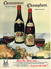 PUBLICITE ADVERTISING 0314   1958   CRAMOISAY & CHAMPLURE   vins