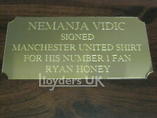 Engraved Trophy Plaques, Plates, Gold, 90 x 38mm, Self Adhesive, Picture Frames