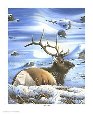 "67 ""Time To Rest"" Elk 22x28 Canvas Print by Robert Metropulos"