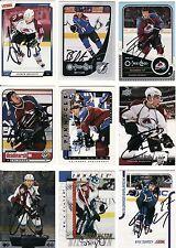ANDREW BRUNETTE, COLORADO AVALANCHE, RARE AUTO'D/SIGNED NHL CARD.