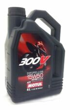 Motul 300V 15W50 15W-50 4T FACTORY LINE Motorcycle Synth ENGINE OIL 4L 450011