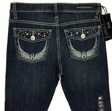 Rock Republic Slim Bootcut Kasandra Blue Jeans Low Rise Sz 8 (30x32) NEW A12-17
