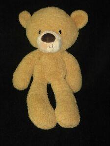 Gund Plush Fuzzy Teddy Bear Lovey Tan Brown 320116